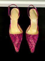 St. John Multi Color Pink slingback high heel size 8 1/2 euro 38.5