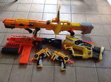 Lot 5 Nerf Guns:Long Shot Cs-6 Firefly Rev-8 Demolisher 2 In 1 +2 Pistols