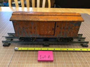 Lionel Lines Train Standard Scale 98237 CM & St P Orange Box Car Weathered Lot A