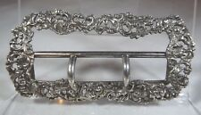Antique Victorian Sterling Silver Belt Buckle Birmingham 1893 Henry Matthews