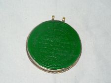 ISLAMIC MIDDLE EASTERN GREEN AGATE ARABIC CALLIGRAPHY AMULET PENDANT