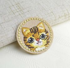 Embroidery Cute Cat Cloth Patch Iron On Patch Sew Motif Applique Patch Gift