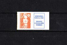 variété  Marianne du bicentenaire 1f orange + vignette  chenille   NUM: 3009a **