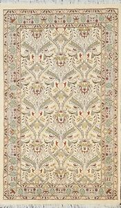 Wool/ Silk Floral Oriental Vegetable Dye Traditional Hand-knotted Area Rug 3x5