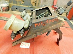 MG Midget, Sprite, Brake & Clutch Pedal Assemblu, Dual Line Brake w/ Cylinders,