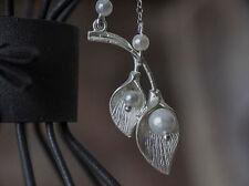 Handgefertigte Modeschmuck-Halsketten floralen Themen
