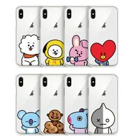 Official BT21 Clear Jelly Basic Phone Case Cover For Samsung Galaxy Kpop BTS