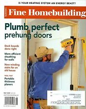 Fine Homebuilding May 2009 Plumbing Perfect Prehung Doors & Sheathing for Walls