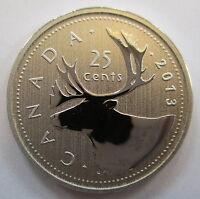 2013 CANADA 25 CENTS SPECIMEN QUARTER COIN