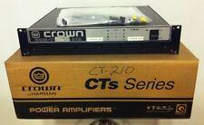 CROWN by HARMAN COM-TECH CT-210 300W 2 Channel Power Amplifier Rack Mount Amp