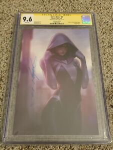 Gwen Stacy #2 CGC 9.6 Unmasked Ghost-Spider Virgin Variant Signed JeeHyung Lee