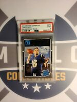2016 Donruss Jared Goff Rated Rookie Blue Press Proof PSA 9 Mint Rams RC