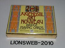 Piatnik Spielkarten Bridge Nr.2136 Jugendstil Akt Nouveau - UNGEÖFFNET