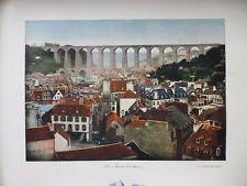 FINISTERE:Gravure 19°in folio couleur/ VUE GENERALE DE MORLAIX