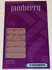 Jamberry 1K40 Blushing Floral Sealed Sheet of Retired Nail Wraps Pink and Gold