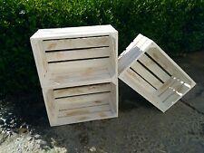 lote cajas de madera blanco vintage nuevas tipo fruta