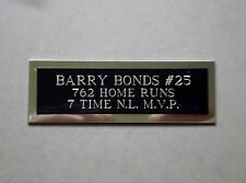 """Barry Bonds Nameplate For A Baseball Ball Cube Square Or Card Plaque 1"""" X 3"""""""