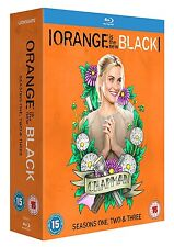ORANGE IS THE NEW BLACK - COMPLETE SEASONS 1 2 & 3 (BRAND NEW BLURAY BOXSET)