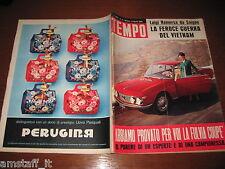 RIVISTA TEMPO 1965/15=LANCIA FULVIA=VIETNAM=BRIGITTE BARDOT=PIA LINDSTROM=