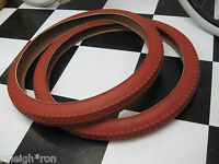 "2 FAT 26 x 2.125"" BRICK RED Cruiser Rat Rod Bike Muscle Bicycle Tires"