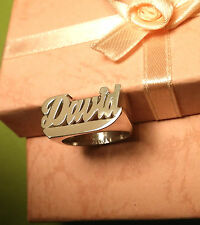 MOTHERS DAY SPECIAL NAME RING FOR MOM PERSONALIZED STERLING SILVER ANY NAME