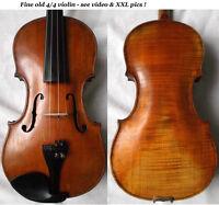 FINE OLD GERMAN MASTER VIOLIN -see VIDEO - ANTIQUE VIOLINO バイオリン скрипка 小提琴 173