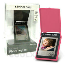 NEW KAISER BAAS SIGNATURE PINK LED LCD DIGITAL PHOTO FRAME KEYRING GR GIFT