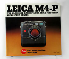 Leica M4-P Sales Brochure - printed May 1984