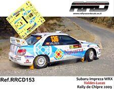 DECAL/CALCA 1/43; Subaru Impreza; Valdes-Lucas; Rally de Chipre 2009