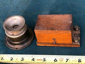 Antique 1800's Telegraph Relay Box & Sound Unit - Estate Find