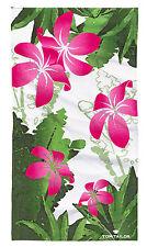 Tom Tailor Duschtuch Strandtuch Strandlaken Badetuch Blumen grün weiß pink
