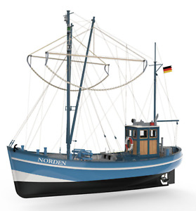 PREMIUM LINE - Kymodels Norden 1:25 Scale Model Fishing Boat Assembly Kit - New