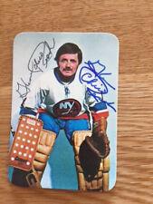 Islanders Glenn Chico Resch signed 1976 77 Topps Super Card