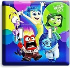 INSIDE OUT JOY ANGER SADNESS DOUBLE LIGHT SWITCH COVER BOYS BEDROOM DECORATION