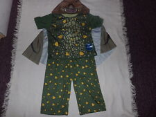 Dreamworks How To Train Your Dragon Toddler 3-Pc Olive Green Gronckle Pajama 3T