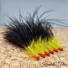 Hothead Black / Yellow Dancer  Long Shank Size 10 (Set of 3) Fly Fishing Lures
