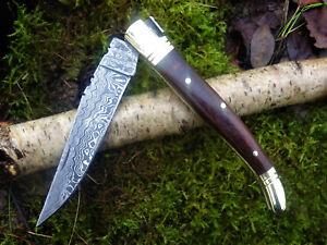Taschenmesser-Laguiole-Damastmesser-Jagdmesser-Klappmesser-Holzgriff-22cm-(RDV9)