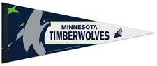 New MINNESOTA TIMBERWOLVES Official NBA 2017-18 Logo Premium Felt PENNANT