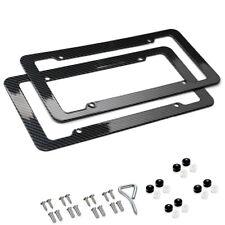 Plastic Carbon Fiber Style License Plate Frames For Front & Rear Bracket