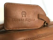 ETIENNE AIGNER Mens GARMENT BAG Brown Leather  Travel  Good Condition Very Rare!