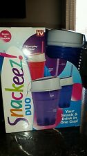 As Seen on TV Snackeez Duo 30 Piece Kit Combo Pack BPA Free BLUE Camping Travel
