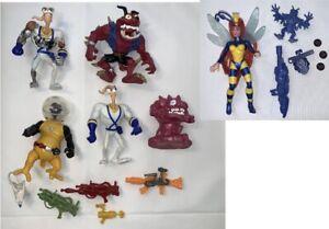 Vintage Earthworm Jim 1994 Playmates Action Figure Lot Psycrow Evil Bob