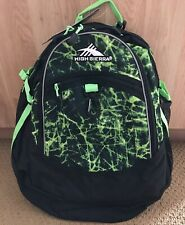 SALE  High Sierra Fatboy Backpack Black/Neon Green Print - New With Tags