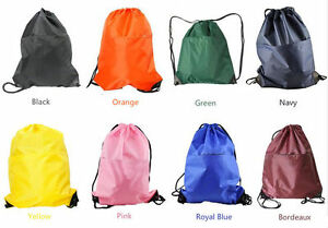 STRING DRAWSTRING BAG BACKPACK WITH ZIP POCKET--GYM,Swim,,Sports, Storage, Shoe