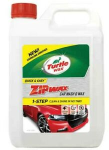 Turtle Wax  Zip Wax Car Wash and Wax 5L Clean & Shine 5 litres