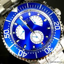 Invicta Grand Diver Master Calendar Stainless Steel Blue 47mm Watch New