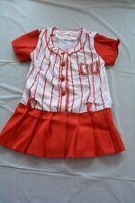 Leg Avenue Little Miss Slugger Girls Kids XS Baseball Red Halloween Costume