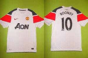 Shirt MANCHESTER UNITED (S) NIKE #10 W. ROONEY 2010/2011 PERFECT !!! Trikot away