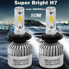 H7 8000LM 80W LED Headlight Kit Bulbs Low Beam High Power 6000K White 2Y