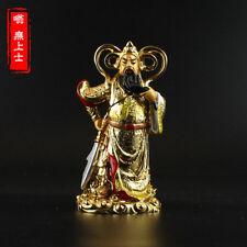 Tibetan Buddhism Hand painting resin gilt statue Guan Yu sangharama bodhisattva